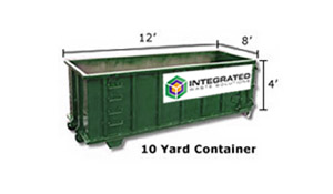 10yd Yard Waste Dumpster Rental