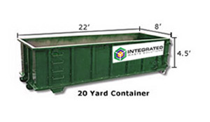 20yd Construction Dumpster Rental